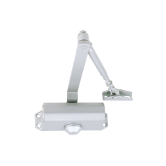Power size 2 door closer, rack & pinion with link arm