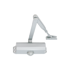 EN 3 door closer, rack & pinion with link arm